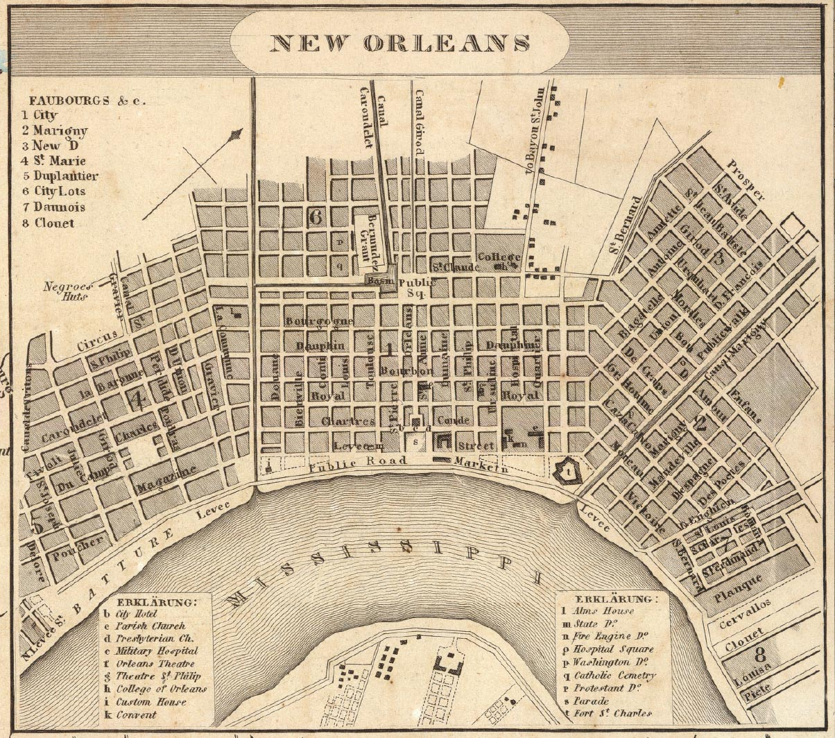 48th OVVI - Cyrus Hussey Diary - New Orleans City Map New Orleans on